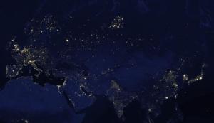 Google earth at night city lights