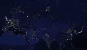 Google earth at night city lights