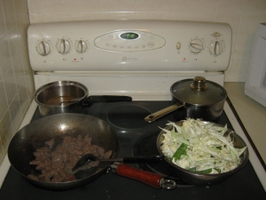 ingredients for sesame beef stir-fry recipe