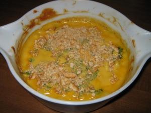 Cheesy Broccoli Cauliflower Casserole recipe, Just out of the oven