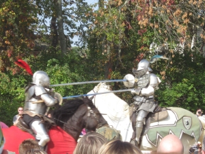 full armor joust at the Ohio Renaissance Festival