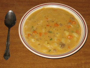 Cheese Burger Soup recipe marissabaker.wordpress.com