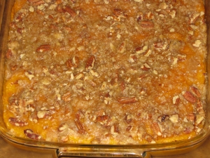 Sweet Potato Casserole recipe marissabaker.wordpress.com