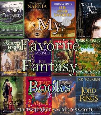 """My Favorite Fantasy Books"" marissabaker.wordpress.com"
