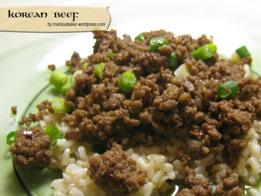"""Korean Beef"" by marissabaker.wordpress.com"