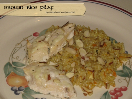 """Brown Rice Pilaf"" by marissabaker.wordpress.com"