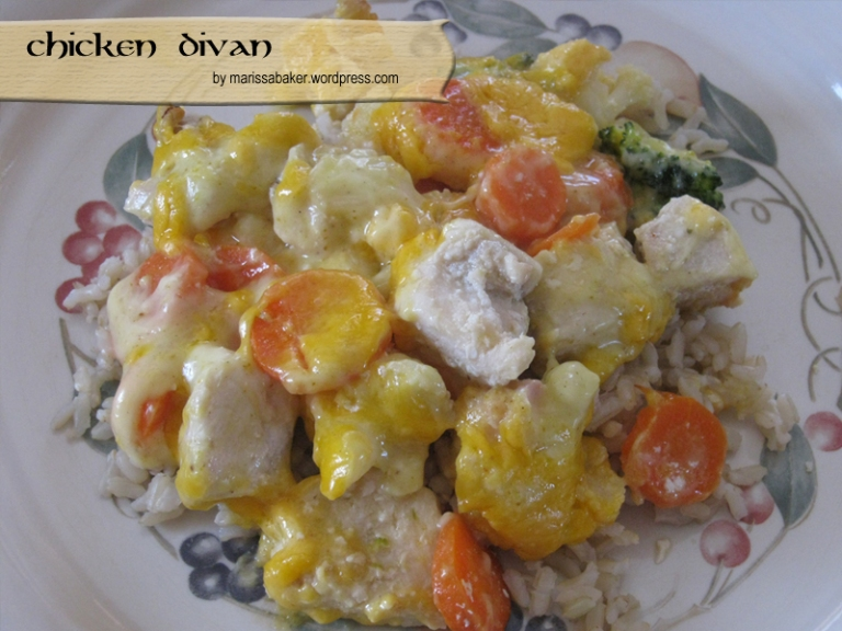 Chicken Divan recipe by marissabaker.wordpress.com