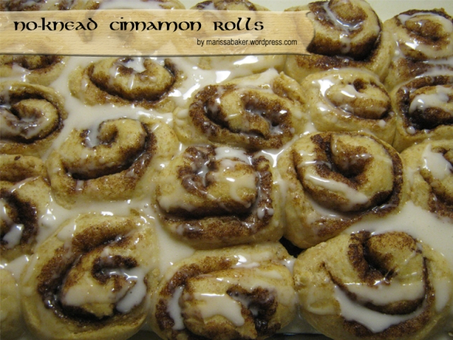 No-Knead Cinnamon Roll recipe, marissabaker.wordpress.com