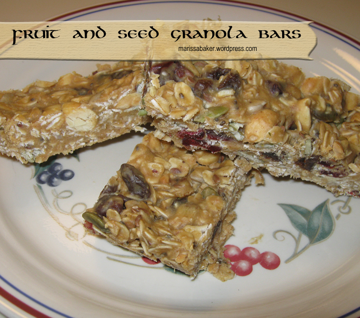 Fruit and Seed Granola Bars marissabaker.wordpress.com