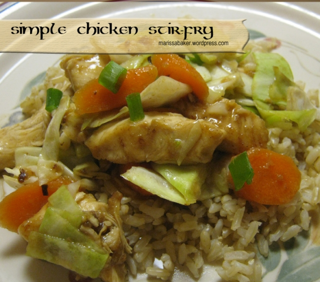 Simple Chicken Stir-Fry marissabaker.wordpress.com