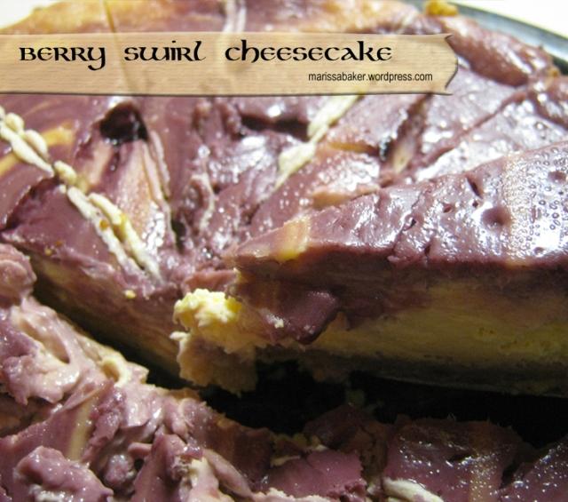 Berry Swirl Cheesecake recipe by marissabaker.wordpress.com