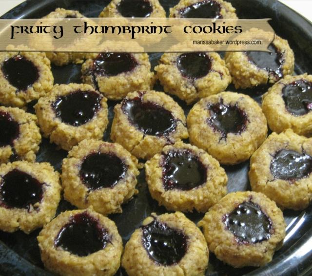 Fruity Thumbprint Cookie recipe by marissabaker.wordpress.com