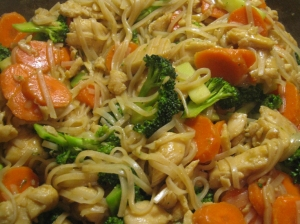 Peanut Noodle Stir-fry recipe by marissabaker.wordpress.com