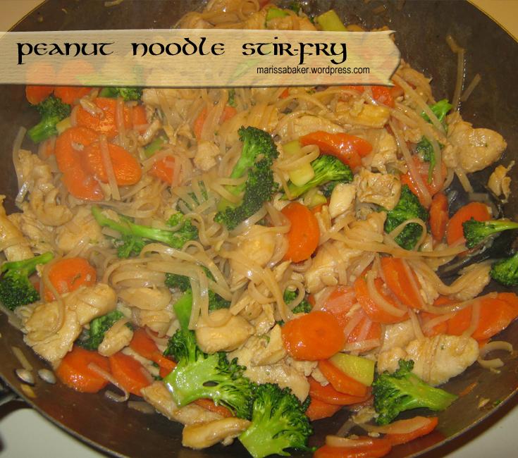 Peanut Noodle Stir-fry recipe by marissabaker.wordpress.com