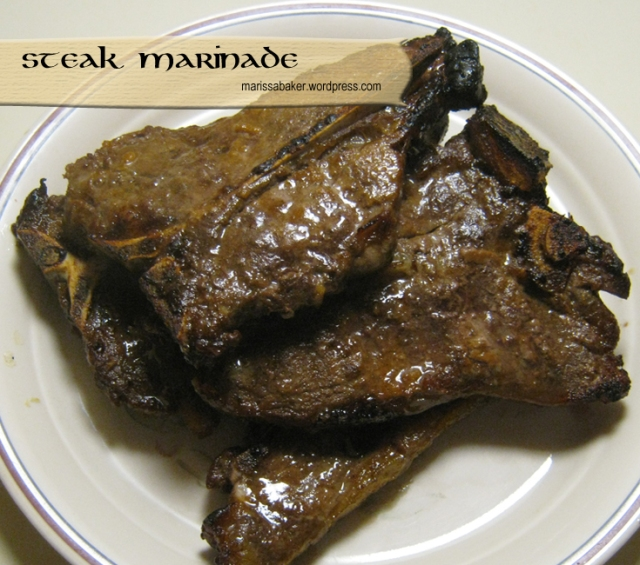 Steak marinade made without Worcestershire sauce. marissabaker.wordpress.com