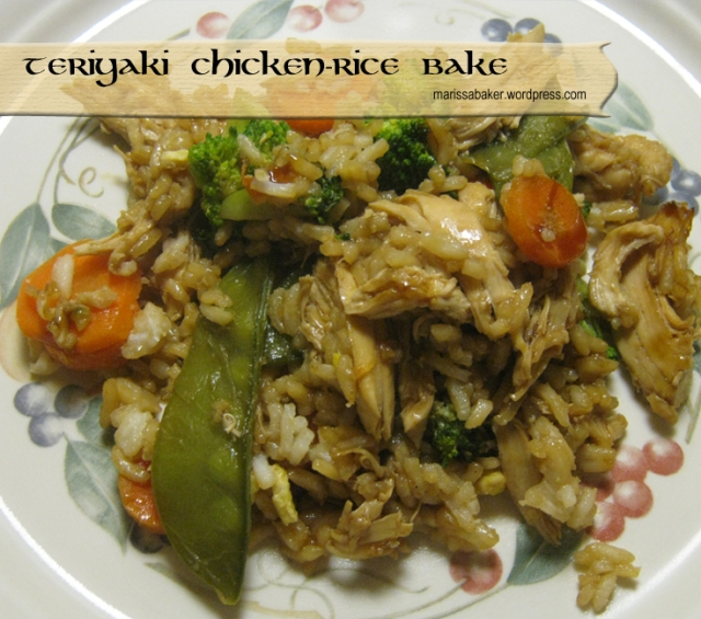 Teriyaki Chicken-Rice Bake | marissabaker.wordpress.com