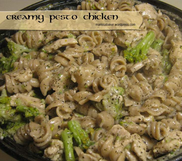 Creamy Pesto Chicken | marissabaker.wordpress.com