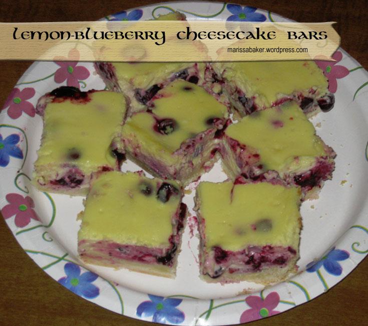 Lemon-Blueberry Cheesecake Bars | marissabaker.wordpress.com