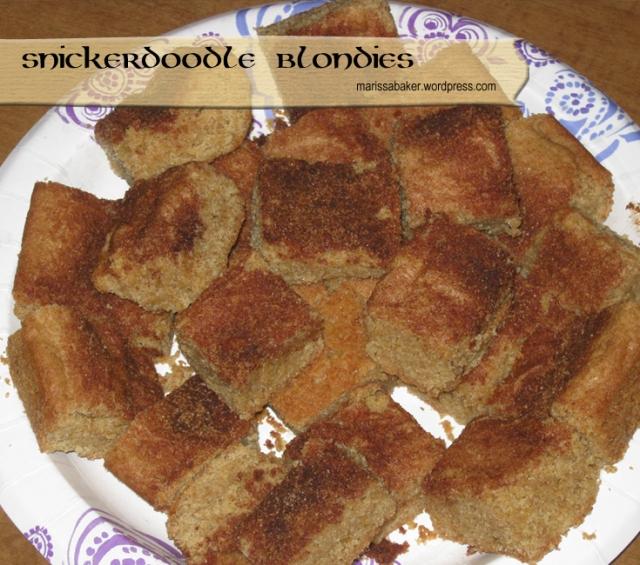 Snickerdoodle Blondies   marissabaker.wordpress.com
