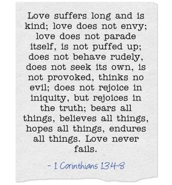 The Greatest Is Love | marissabaker.wordpress.com