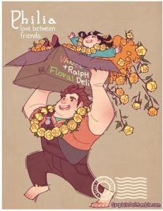Disney explains Greek words for love, by Blair a.k.a. GraphiteDoll