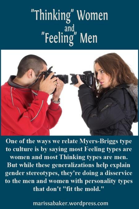 """Thinking"" Women and ""Feeling"" Men   marissabaker.wordpress.com"