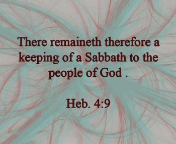 There Remains A Sabbath | marissabaker.wordpress.com