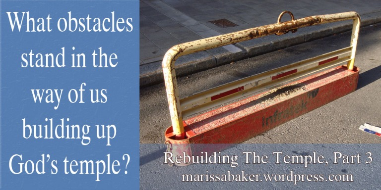 Obstacles To Temple Building | marissabaker.wordpress.com