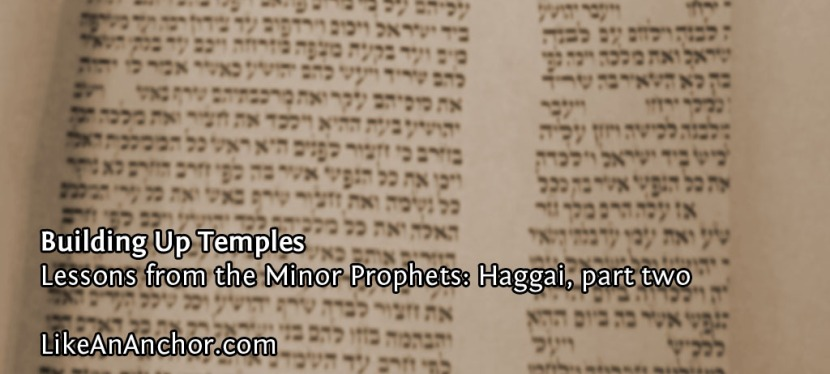 Building Up Temples (Lessons from Haggai, part two)