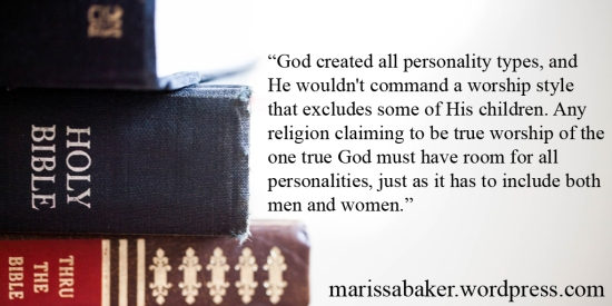 A Faith For Me | marissabaker.wordpress.com