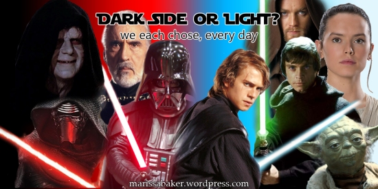 Do you walk on the dark side or the light? | marissabaker.wordpress.com