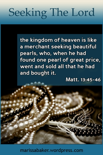 Seeking The Lord | marissabaker.wordpress.com