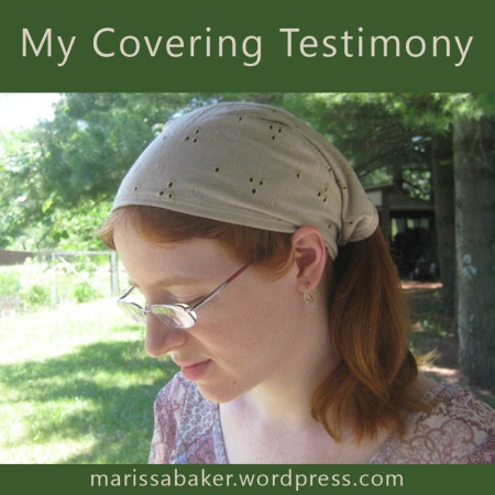 My Covering Testimony | marissabaker.wordpress.com