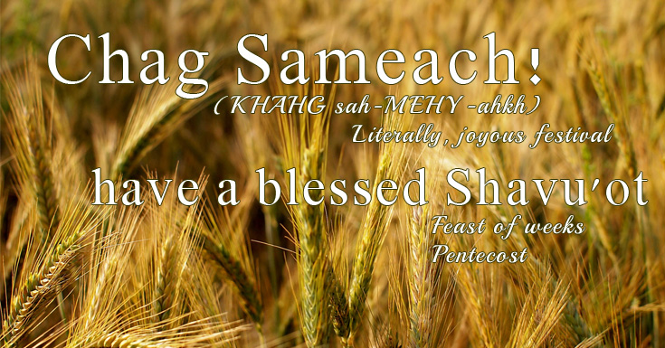 Have a blessed Feast of Pentecost/Shavu'ot my friends! | marissabaker.wordpress.com