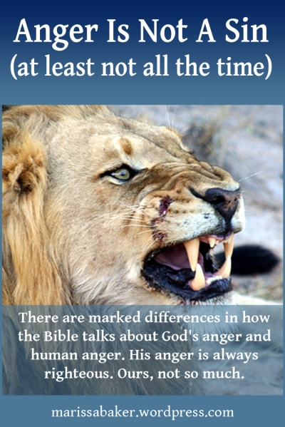 """click to read article, """"Anger Is Not A Sin (at least not all the time)"""" 