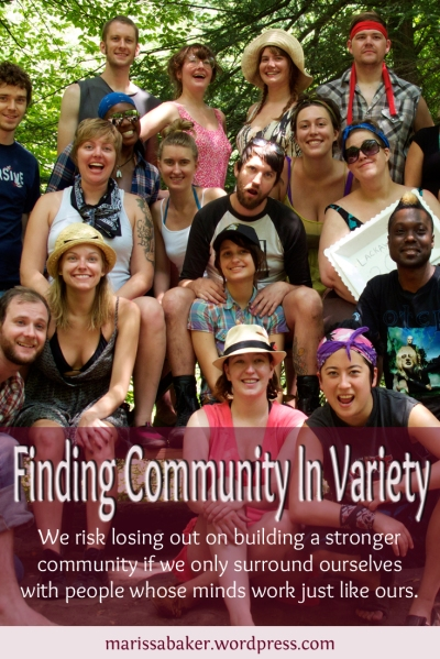 "click to read article, ""Finding Community In Variety"" 