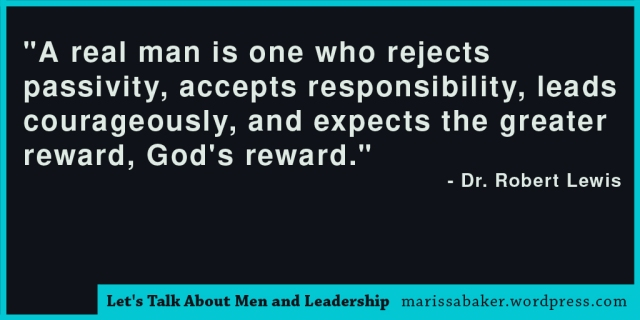 click to read article, Let's Talk About Men and Leadership | marissabaker.wordpress.com