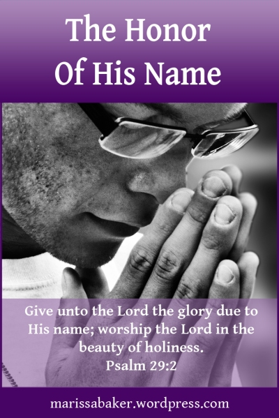"click to read article, ""The Honor Of His Name"" 