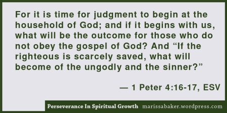 "click to read article, ""Perseverance In Spiritual Growth"" 