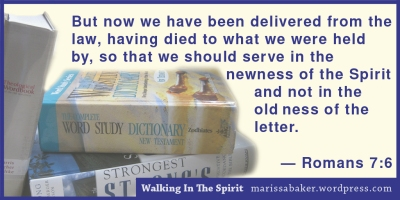 "click to read article, ""Walking In The Spirit: God's Character In Us"" 