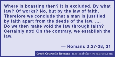 "click to read article, ""Crash Course In Romans"" 
