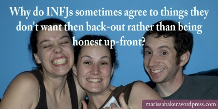 """click to read article, """"The Problem of Being Too Agreeable""""   marissabaker.wordpress.com"""