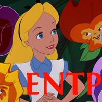 Alice - ENTP. Visit marissabaker.wordpress.com for more Disney princess types