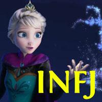 Elsa - INFJ. Visit marissabaker.wordpress.com for more Disney princess types