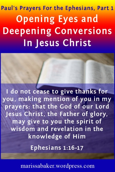 "click to read article, ""Opening Eyes and Deepening Conversions In Jesus Christ"" 