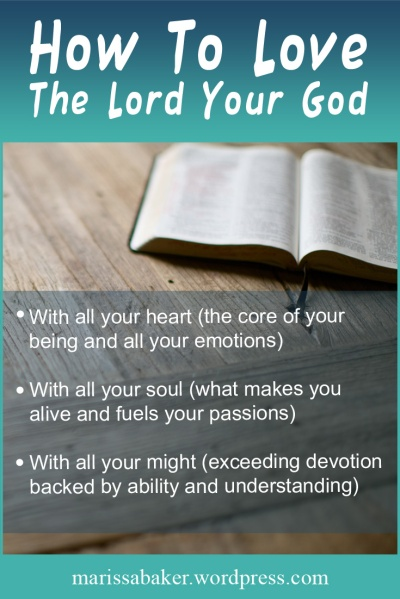 "click to read article, ""How To Love The Lord Your God"" 