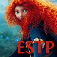 Merida - ESTP. Visit marissabaker.wordpress.com for more Disney princess types