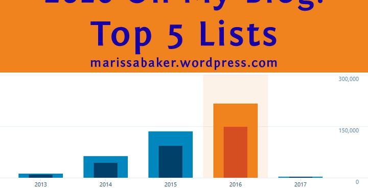2016 On My Blog: Top 5 Lists
