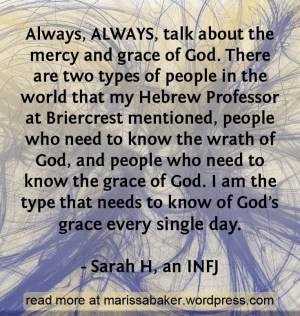 INFJ - Join me for a blog series discussing Christianity from the perspectives of different personality types. | marissabaker.wordpress.com