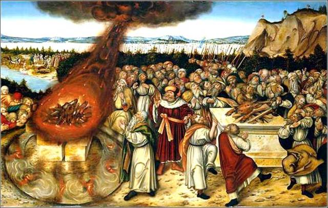 Elijah and the Priests of Baal by Lucas Cranach the Younger, ca. 1545